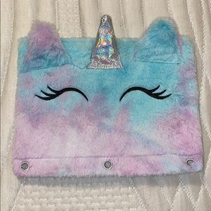 Cute Fuzzy Animal Pencil Pouch for 3-Ring Binders